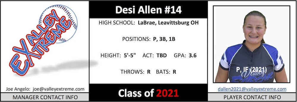 2021 Desi Allen from Valley Extreme Angelo.