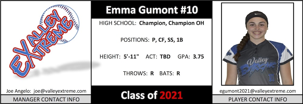 2021 Emma Gumont from Valley Extreme Angelo.