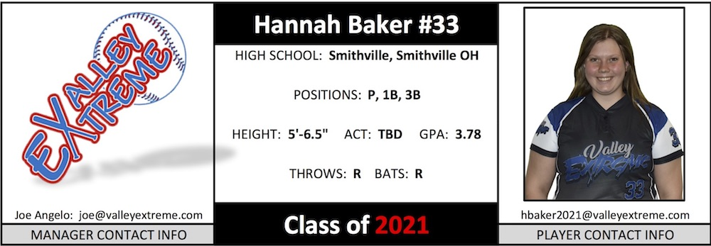 2021 Hannah Baker from Valley Extreme Angelo.