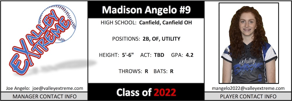 2022 Madison Angelo from Valley Extreme Angelo.